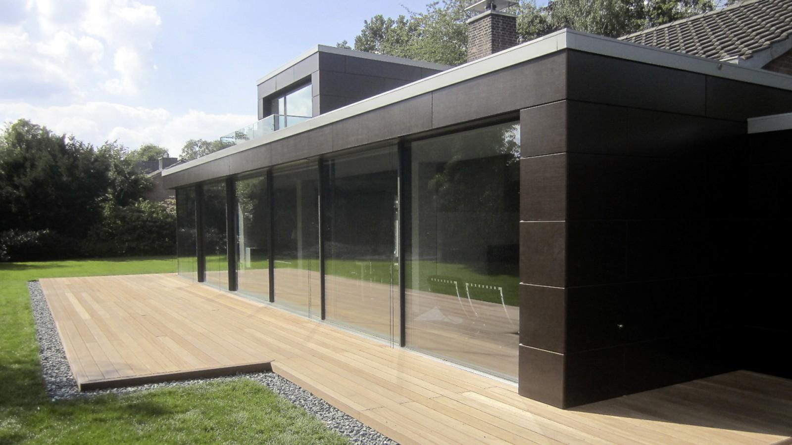 Moderne anbauten anbau mit neuer terrasse umbau for Anbau haus modern