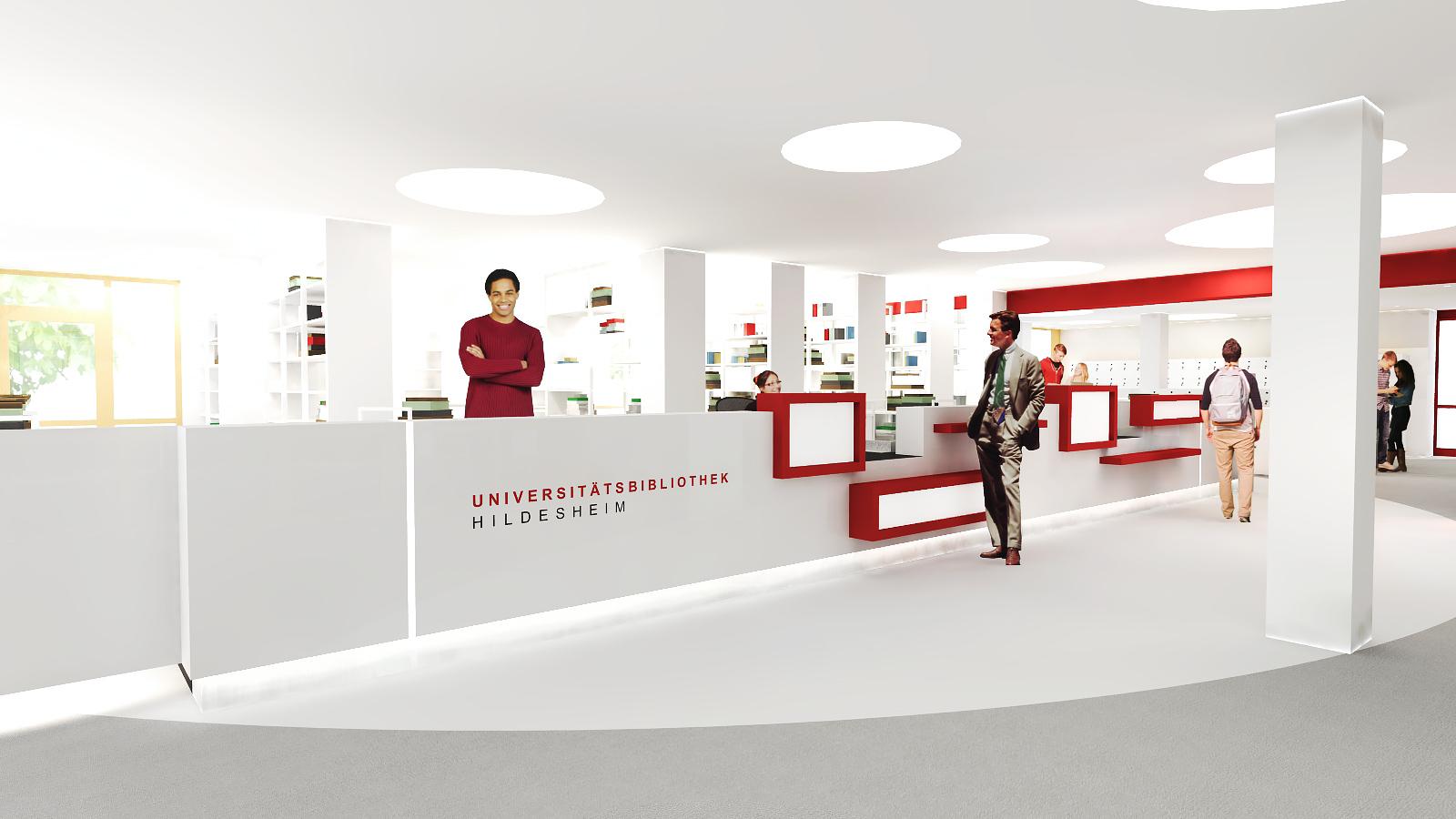 Innenarchitekturbüro  Universität Hildesheim Bibliothek - JUNG - Architekturbüro ...