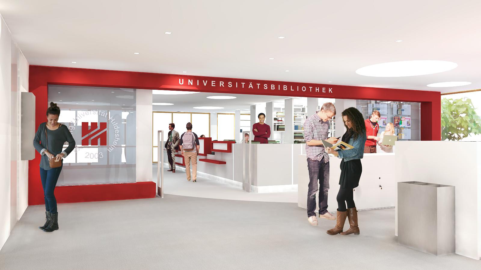 Universität Hildesheim Bibliothek | JUNG - Architekturbüro, Innenarchitekturbüro Hildesheim
