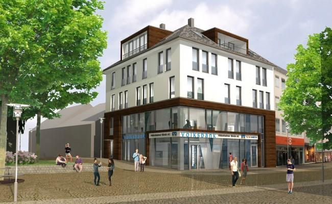 Volksbank in der Hildesheimer Innenstadt |