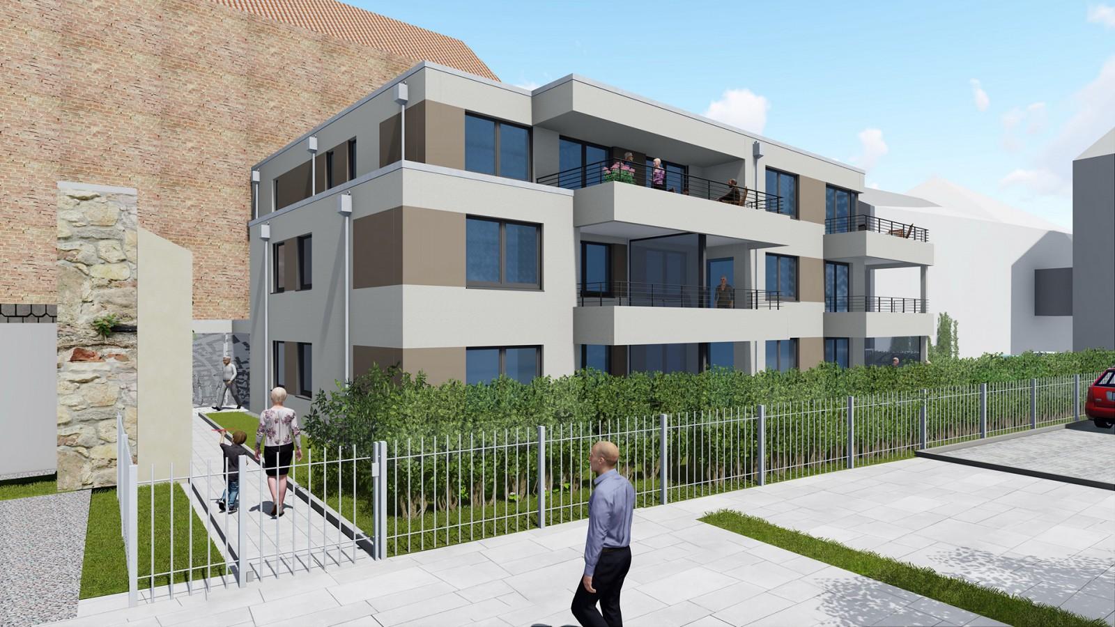 Neubau eines Mehrfamilienhauses in der Theaterstraße | JUNG - Architekturbüro, Innenarchitekturbüro Hildesheim