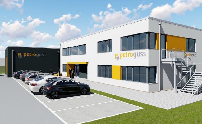 Neubau eines Verwaltungs- und Laborgebäudes mit Lagerhalle