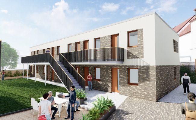 Neubau von Mirkoapartements in Einnumer Straße |